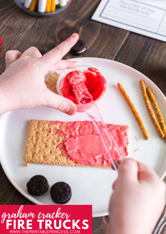 This fire safety week snack and freebie is perfect for little learners. It is a great addition to fire safety week for PreK, Kindergarten, and First grade. Click through to find directions, read aloud suggestions, and a free fire safety week printable.
