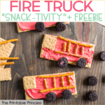 Fire Safety Week Snack and Freebie