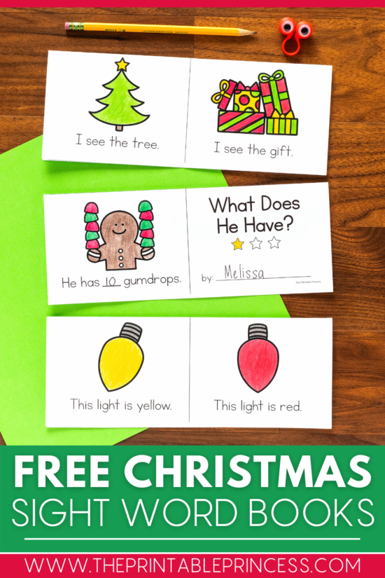 Free Christmas Sight Word Books