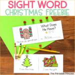 Free Christmas Sight Word Books