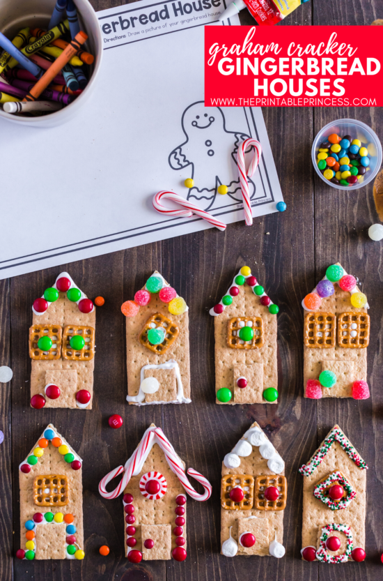 Say good-bye to milk carton gingerbread houses and hello to graham cracker gingerbread houses! These adorable gingerbread houses made with graham crackers are easy, kid-friendly, and perfect for holiday or classroom parties. All you need to make these gingerbread houses are graham crackers, frosting, marshmallows, and few decorating ingredients. Click through to get step-by-step directions on how to make graham cracker gingerbread houses along with a few no prep extension page (made just for classroom teachers!). This easy gingerbread house alternative works great for PreK, Kindergarten, and First Grade classrooms.
