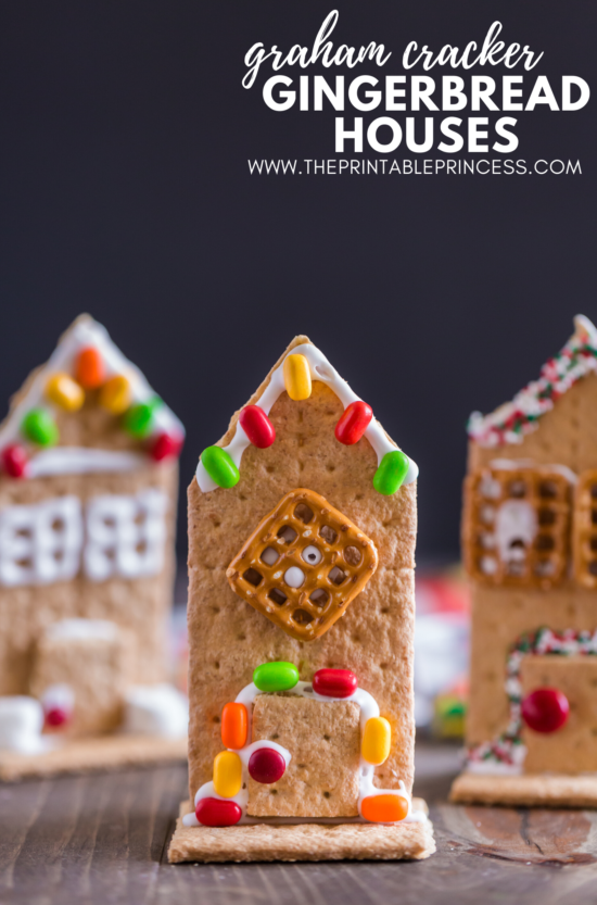 Say good-bye to milk carton gingerbread houses and hello to graham cracker gingerbread houses! These adorable gingerbread houses made with graham crackers are easy, kid-friendly, and perfect for holiday or classroom parties. All you need to make these gingerbread houses are graham crackers, frosting, marshmallows, and few decorating ingredients. Click through to get step-by-step directions on how to make graham cracker gingerbread houses along with a few no prep extension page.