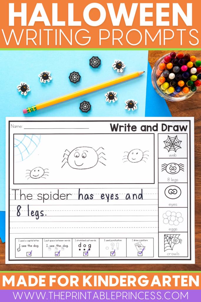 Halloween Writing Prompts for Kindergarten