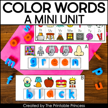 Let S Learn Color Words A Color Words Mini Unit The Printable Princess