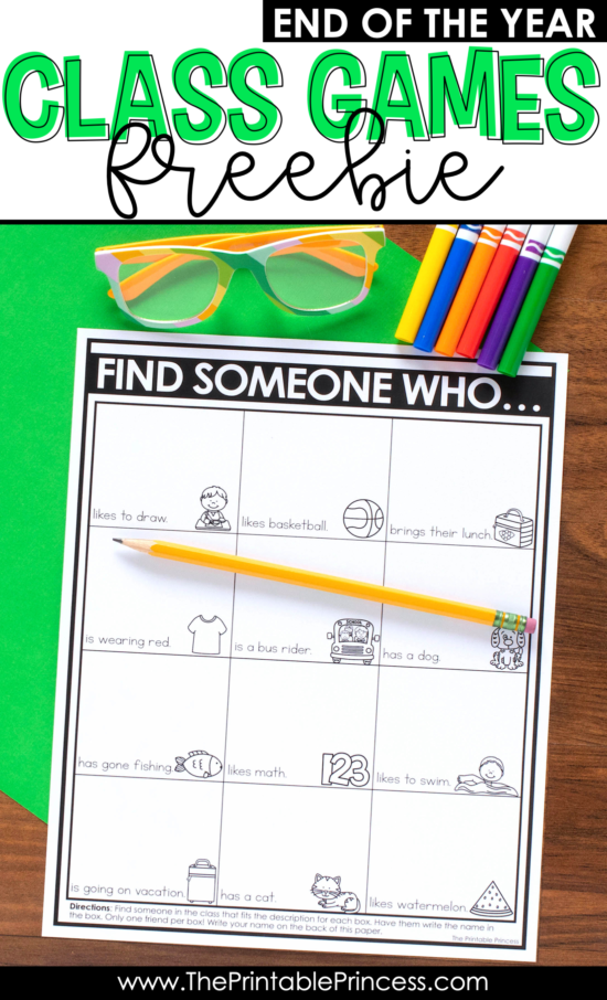 Check out these fun and FREE end of the year games to play as the school year comes to an end. These games are perfect end of the year activities for Kindergarten and first grade students. There's two end of the year games included in the download. Use them as indoor recess activities or just for fun. They are the perfect way to spend the last few days reflecting and remembering highlights from the school year. Your students will love them! And they're easy to prep, which means you'll love them too!