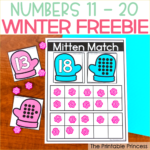 Mitten Match Teen Numbers Freebie