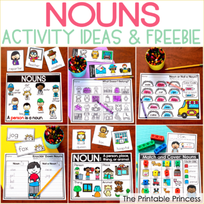 Nouns Activities for Kindergarten