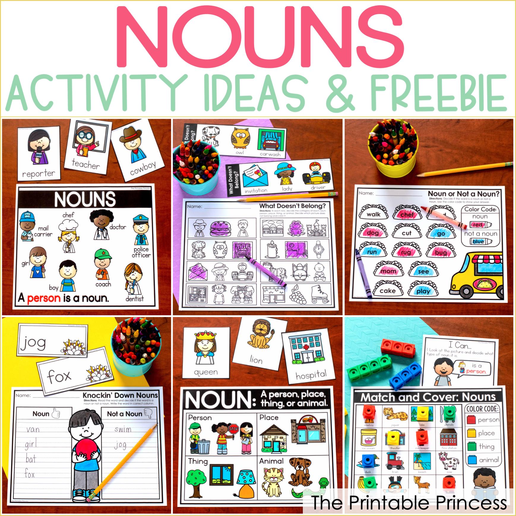 Nouns Activities for Kindergarten