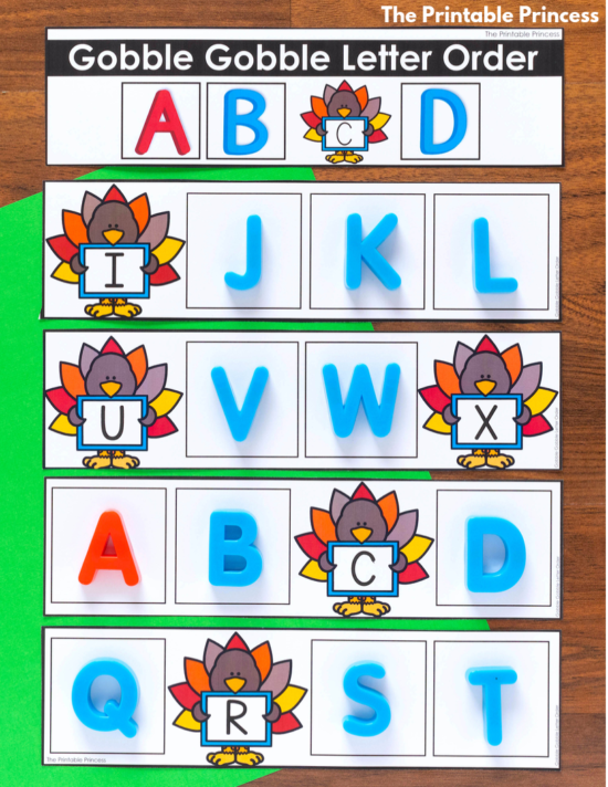These November tubs for Kindergarten are full of hands-on math and literacy activities to help get your students ready for a day of learning. There is 25 hands-on Kindergarten appropriate activities to make your classroom mornings easier. Skills include counting, numbers to 10 and 20, subitizing, ten frames, number recognition, letter recognition, beginning sounds, ending sounds, syllables, fine motors, and more. All perfect for November in Kindergarten with a fun turkey theme!