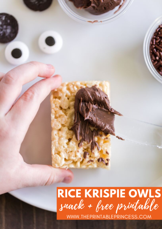 Check out this rice krispie owl treat. Super cute for fall or as part of your owl activities for Kindergarten. It's an easy to make and no-bake rice krispie variation recipe. It's a cute, creative, and hands-on way to help students remember the parts of an owl. Also included in the blog post is a FREE no prep Label the Owl printable. This free owl printable makes a great introduction or follow up activity for the rice krispie owls that your kindergarten students will LOVE!