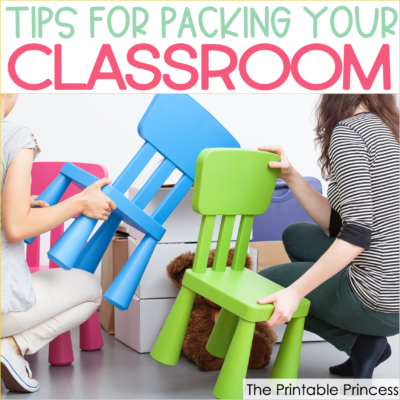 Packing up a classroom at the end of the school year is not a job that teachers enjoy. In this post you'll find end of the school year ideas and tips that'll make packing up your classroom easier and more efficient. These tips are great for Pre-K, Kindergarten, and First Grade teachers.