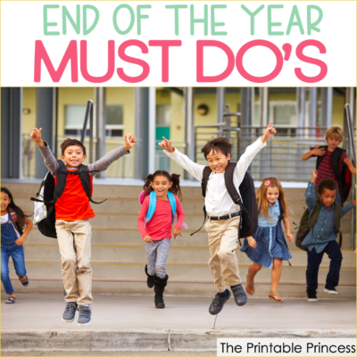 As the end of the school year draws near, it can be so easy to want to hit the fast forward button to summer. And while there are so many end of the year activities and tasks that must be done to prepare your classroom, there are a few things that you shouldn't skip...and they have NOTHING to do with your end of the year check-list. Here are six things you need to do before you turn in your keys and say farewell to another school year.