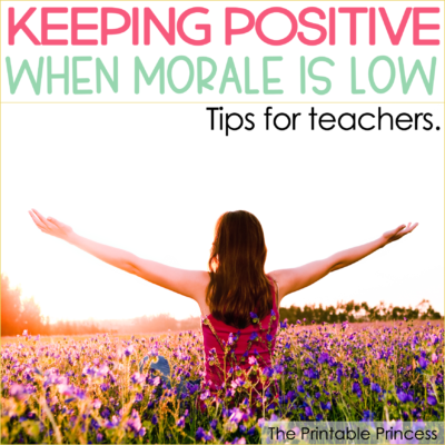 School morale is an important part of an effective learning community. We all want to work in a positive and uplifting environment. Yet with all of the responsibilities and pressures that come with being an educator, it's easy to see how some people fall into the trap of focusing on all that is negative about the job and unwittingly become active participants in dragging down school morale. So what do you do when school morale has dipped below your comfort level? Here are five tips to help you keep your focus on what's truly important- your students, your profession, and your well-being.
