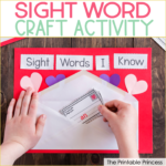 Valentine Sight Word Craft