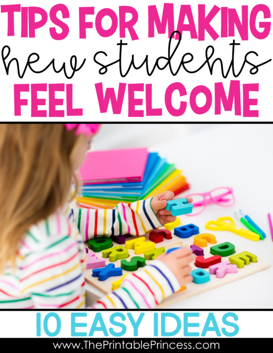 When a new student starts in the middle of the year, it can be a challenge for everyone, especially the new student! Being prepared and making new students feel welcome are the keys to a smooth transition. Here are 10 easy to implement ideas to help you prepare for a new student and making them feel like part of your classroom family.