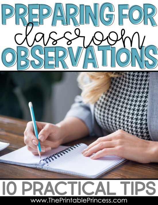 Classroom observations can be a nerve-wracking experience for any teacher, especially new teachers. Whether you teach Kindergarten, First Grade, or Second Grade or higher, it can be difficult to have someone else in your classroom to evaluate you. Here are some easy and practical tips to help you plan and prepare for your next classroom observation. These include things that you'll want to do before, during, and after your classroom observation.
