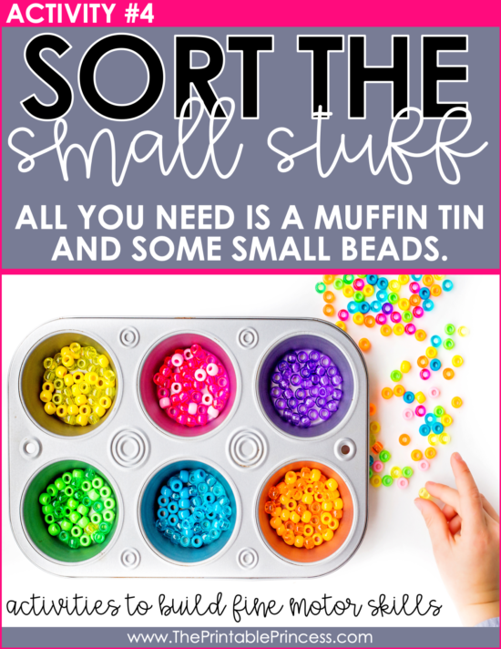 These 12 DIY fine motor activities are perfect for little hands. There is little to no prep work required so they can easily be incorporated into your PreK or Kindergarten classroom. They can be used as STEM activities, fun center rotations, or use the ideas included to create math and literacy stations.