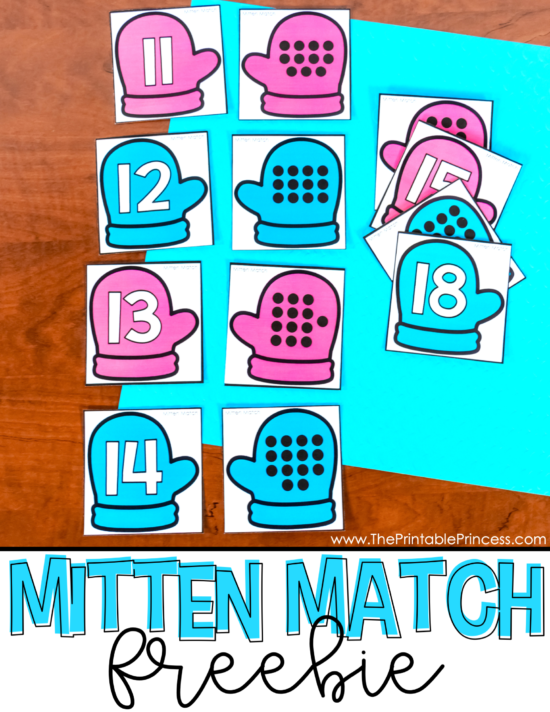 Mitten Match FREEBIE is a hands-on, interactive way for students to practice numbers 11 - 20. The activity includes matching cards and a ten frame mat for students to build teen numbers. This winter activity is easy to prep and can be used in several different ways. Perfect for helping Kindergarten and First Grade students develop a deep understanding of teen numbers during the winter months. This activity is great for morning tubs, early finishers, and of course, math centers. Best of all, it's free! Click through to download your copy.