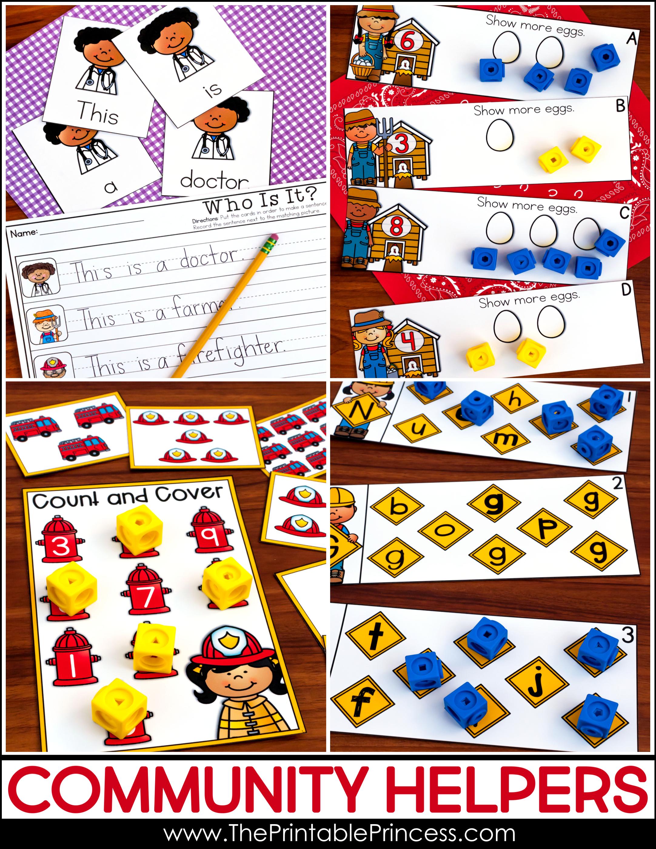 Community Helpers Activities For Kindergarten - 22+ Matching Community Helpers Worksheets For Kindergarten Pdf Images