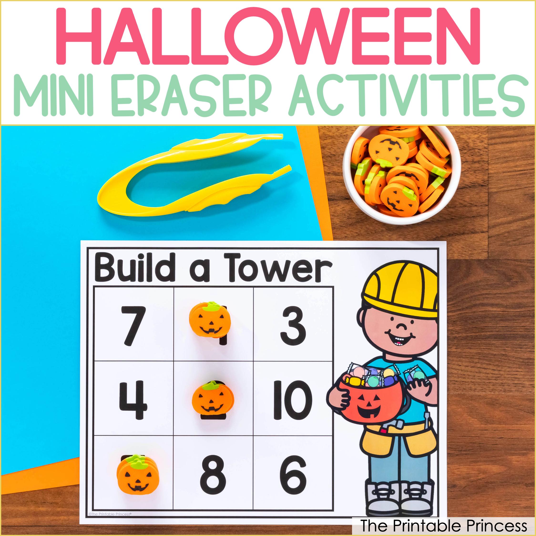 Halloween Mini Eraser Activities