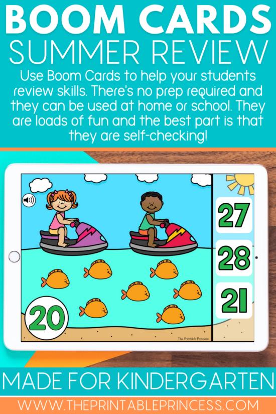 Boom Cards for Kindergarten