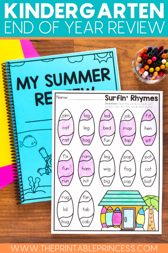 Kindergarten End of Year Review