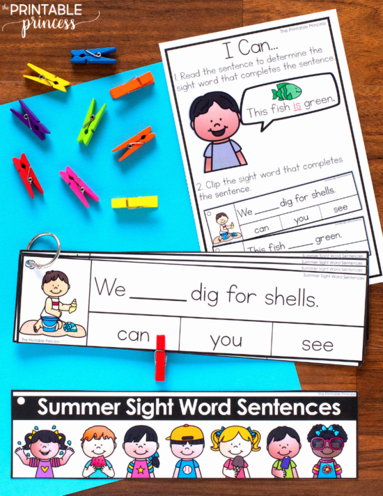 Need some ideas for end of the year summer activities that will keep your students on task and engaged? In this post you'll find tons of engaging, hands-on activities to keep your kiddos learning at the end of the school year These Summer Activities for Kindergarten are great for morning tubs, early finishers, or literacy and math centers. Best of all they were made just for Kindergarten - which means they are skills your little learners are working on during May and June. Plus they are great for summer school! 2D and 3D shapes, base ten, numbers 100, CVC and CVCe words, teen numbers, and MORE can all be found here!