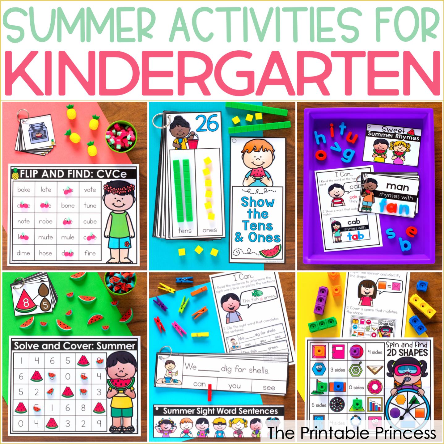 Hands-On Summer Activities for Kindergarten