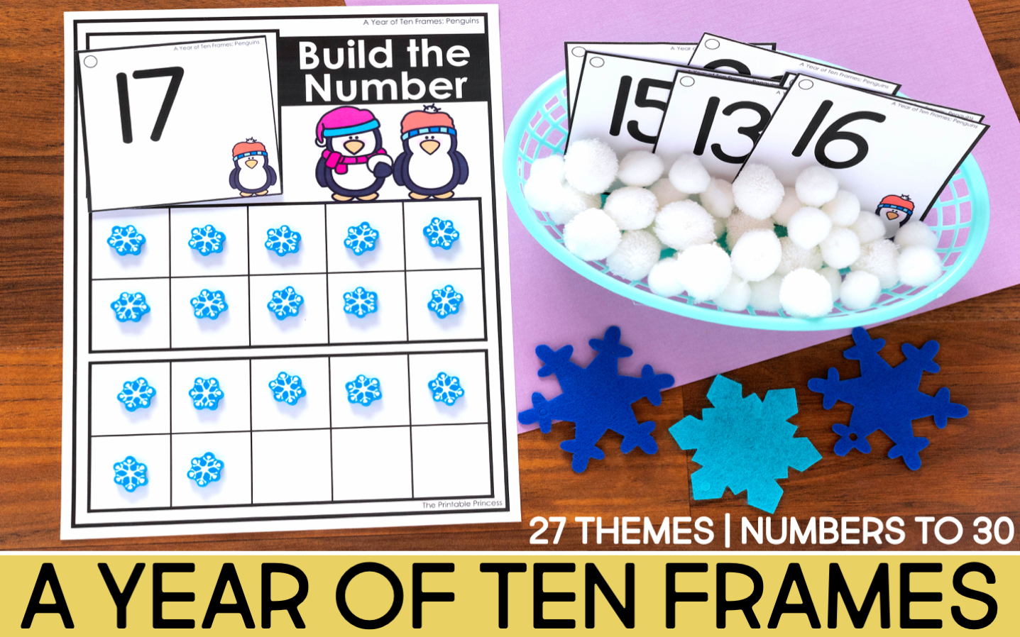 Ten Frames for the Year winter