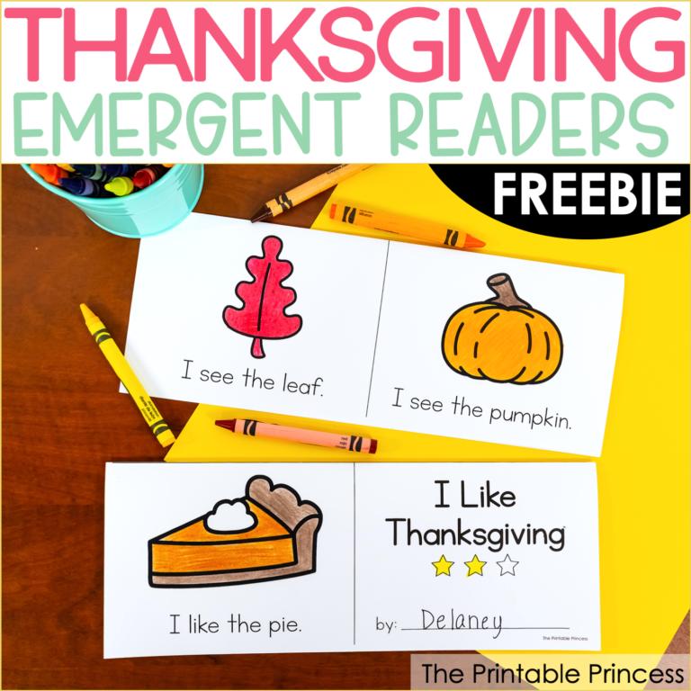 Free Thanksgiving Emergent Readers