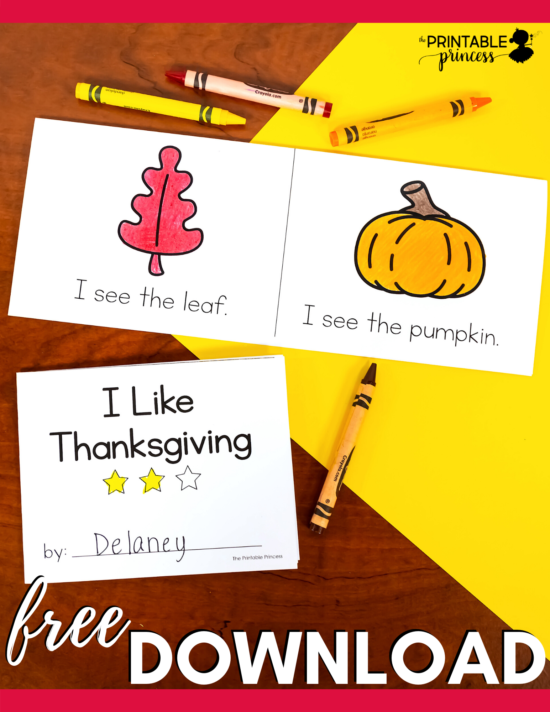 Check out this set of FREE Thanksgiving Emergent Readers that are perfect for the PreK, Kindergarten, or First Grade classroom. This freebie includes four no prep mini readers which are great for beginning readers. Each Thanksgiving mini book features simple predictable text. There's no prep required for these Thanksgiving printables. Students can color the pictures and read the text. Plus you can sneak in some sight word practice as they highlight words that they know.
