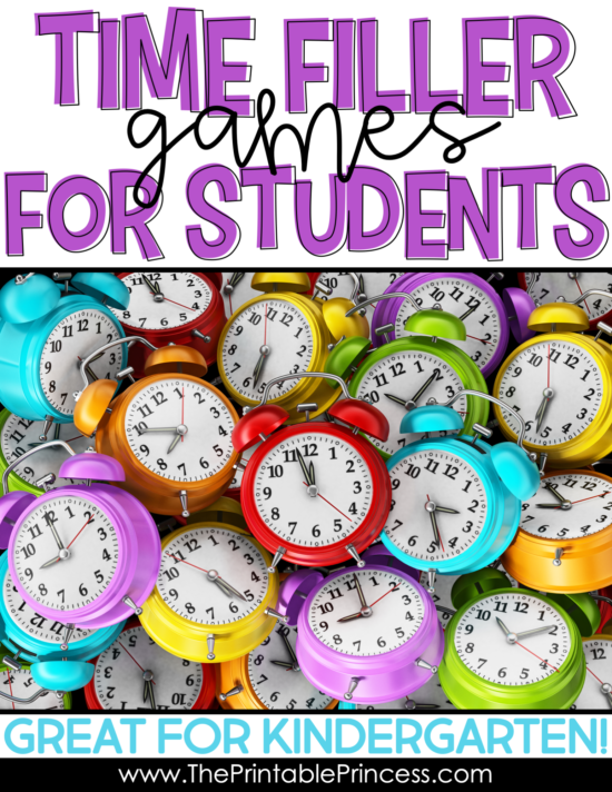Don't you hate those awkward few minutes between activities we all have with our students? You don't have time to do any real work, but you want some sort of constructive activity to keep your kids busy so they don't crack up. Here are 17 fun time filler games for Kindergarten that will keep your students engaged and learning too! They require no prep and are loads of fun for Kindergarten and First Grade students!