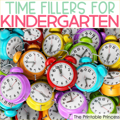 Quick Time Filler Games for Kindergarten