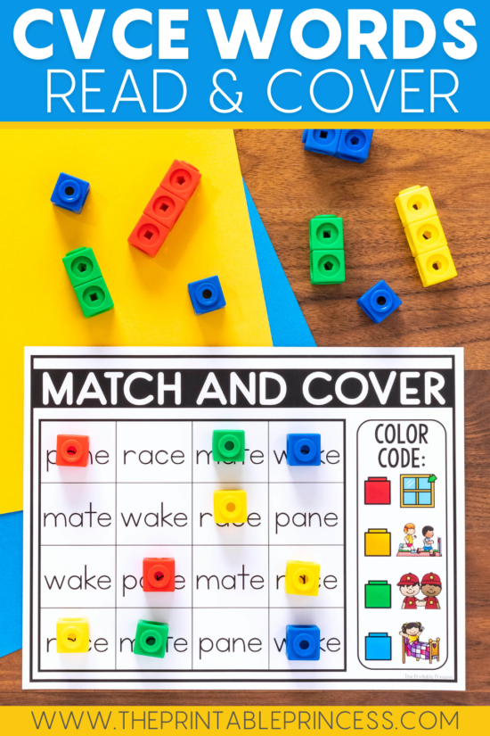 CVCe Word Match and Cover Mats