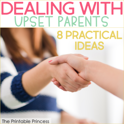 Dealing with upset parents is one of the hardest parts of being a teacher. But you don't need to fear them if you have the tools to diffuse these situations and turn them into an opportunity to problem solve as a team. Here are some tips to help you interact with upset parents successfully and professionally. These are great for parent teacher conferences or even over the phone.