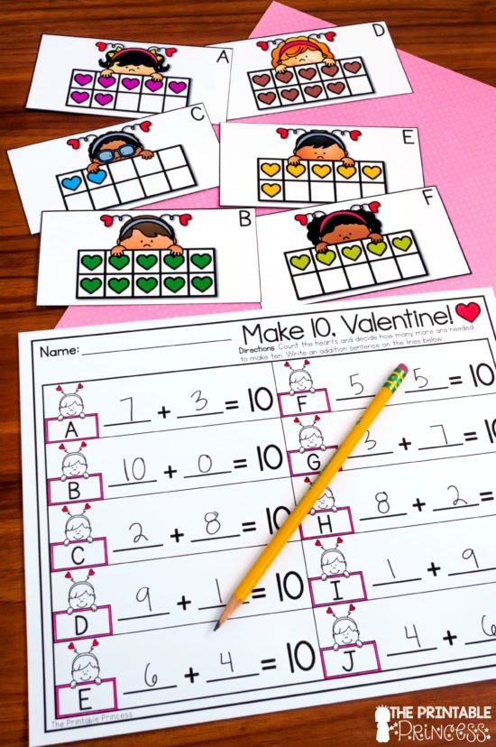 Are you looking for hands-on and engaging activities to bring Valentine's Day into your Kindergarten classroom? Then you will love the Valentine's Day centers for Kindergarten shared in this blog post. There's math and literacy included and they were designed with Kindergarten skills in mind. Also included in this blog post is a super fun numbers to 100 FREEBIE that's perfect for Valentine's Day in Kindergarten! Click through to download your copy!