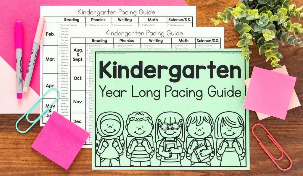 The Printable Princess Year Long Pacing Guide for Kindergarten