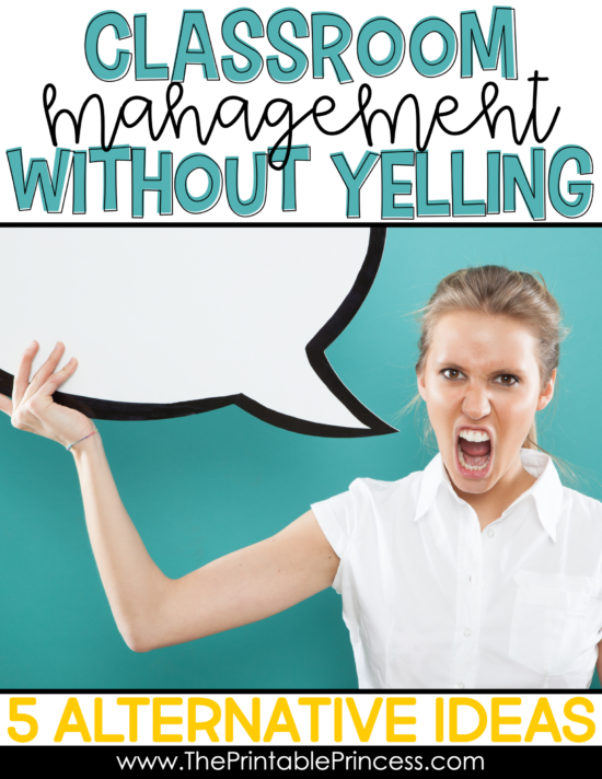 Classroom management is a big part of being a teacher and running a successful, productive classroom. We all strive to create a learning environment that is safe and effective. But sometimes, student's can push our buttons and we feel like we might lose our cool. It might feel like your students just won't listen to you unless you yell. In this article you'll learn why yelling is not an effective technique and the impact it can have on your students. You'll also discover five alternatives to help you have classroom management without yelling.