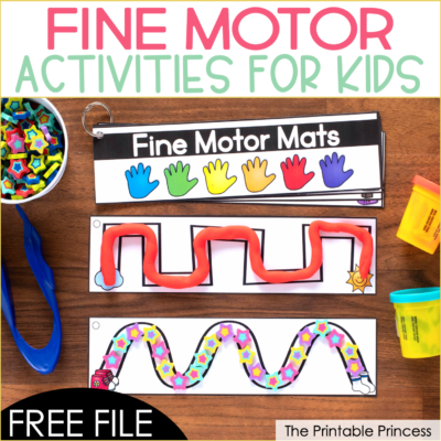 Free fine motor activities - are you looking for another way to strengthen fine motor skills? Check out this fun and FREE activity that can be used multiple ways. Great for PreK, Kindergarten or homeschool. This free fine motor activity is easy to prep and can be used with play dough, mini erasers, or dry erase markers.