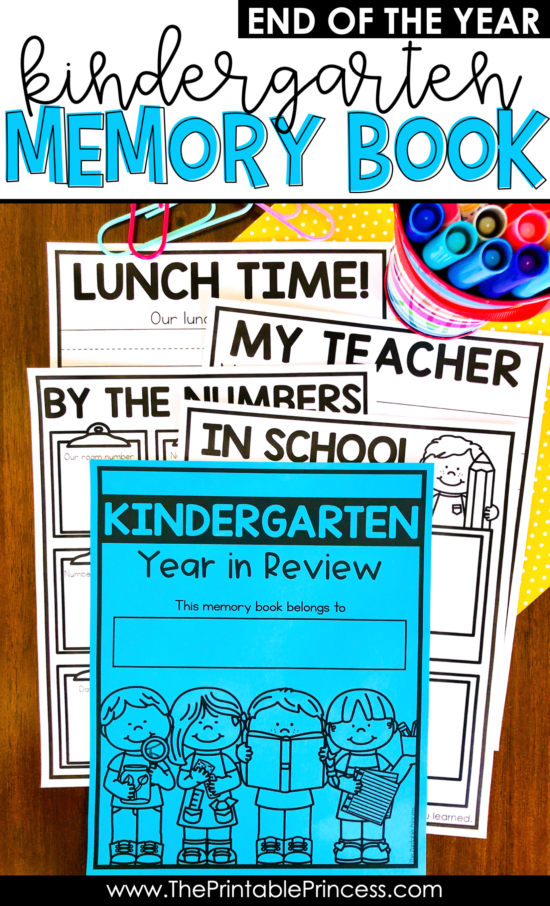 Memory books are a great way to wrap up the school. They are perfect for reflecting, documenting growth, and serve as a sweet memento. Check out this end of the year memory book that was made specifically for little learners. There are so many topics included, as well as differentiated options - so you can make the exact Kindergarten Memory Book or First Grade Memory Book that perfectly meets the needs of your classroom. All pages are in black and white, which makes this photo-copier friendly!